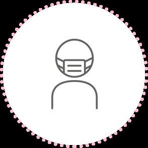 マスクを着用しているイメージのアイコン