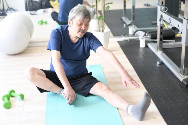 膝・腰予防体操の風景
