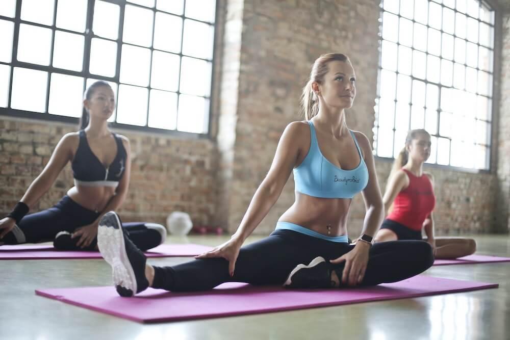 New York Style Yogaのレッスン風